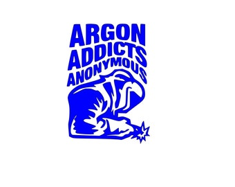 Argon Addicts Anonymous Welding Sticker