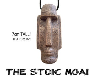 The Stoic Moai necklace