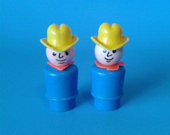 "Fisher Price Little People "" #915 Family Farm Farmers "" 1970's"