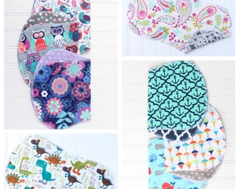 You Pick - Set of 10 Baby Burp Cloths - Over 50 to Pick From - Baby Shower Gift - Baby Gift