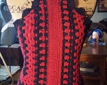 Hand crochet elegant halter top