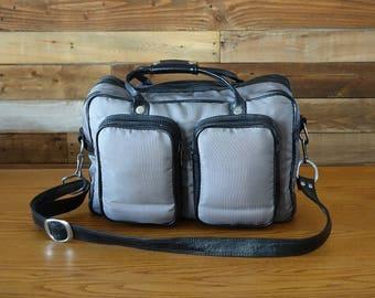 Vintage grey PHOTO Bag - Camera Bag - Grey Case Bag