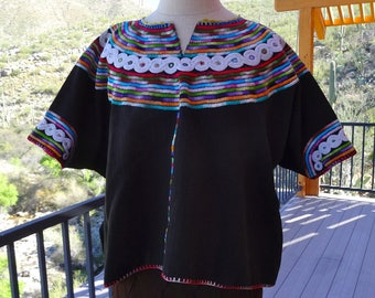 GUATEMALAN HUIPIL/ Joyabaj Huipil/ Handwoven Guatemalan Blouse/ Hand Embroidered Guatemalan Huipil/ Handloomed Joyabaj Huipil/