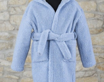 pure natural merino wool dressing gown for kids boys girls home wear children