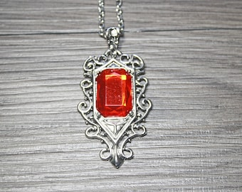Isabelle Lightwood Inspired Ruby Pendant Necklace - The Mortal Instruments/Shadowhunters/TMI - Gift for Her