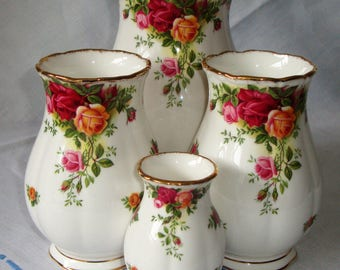 Royal Albert Old Country Roses Vases, Selection Individually Sold