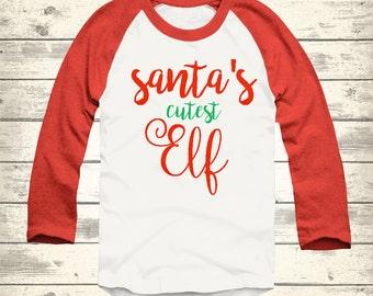 Christmas T Shirt, Girls Christmas Shirt, Funny Christmas Shirt, Holiday Raglan, Christmas Clothes for Boys, Christmas clothes for girls