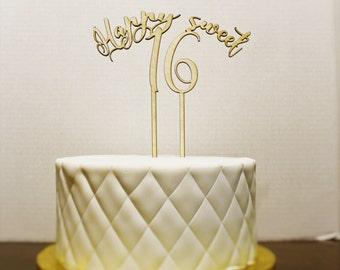 Happy Sweet 16 Birthday Cake Topper