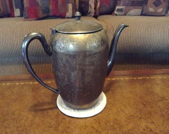Keystoneware Silver Plated on Copper Teapot or Coffee Pot