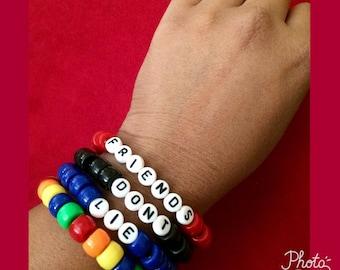 Kandi Stranger Things bracelets - set of 4