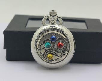 Vintage Steampunk Gear Charm pocket watch Necklace Pendant,Women Necklace