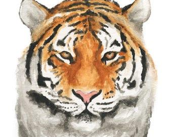 Watercolor Tiger Print, Tiger Art Print, Wall Decor