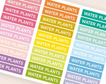 Water plants Heading stickers, planner header stickers, planner stickers, agenda notebook journal stickers, reminder