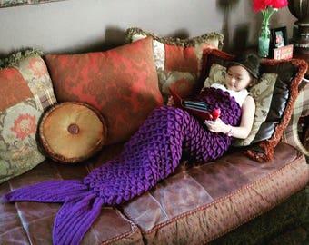 Mermaid Tail Blanket/Mermaid Blanket Tail/Crochet Mermaid Blanket/Crochet Mermaid Tail/Mermaid Blanket Adult/人魚/인어/Sirène/Meermin/Sirena