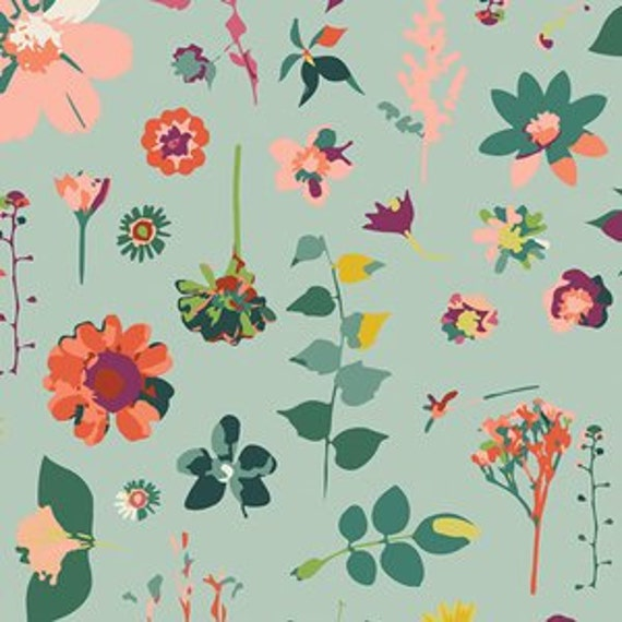 Changing Pad Cover >> Garden Dreamer Moment in Time in Light >> Made-to-Order >> blue changing pad, floral changing pad, garden changing pad