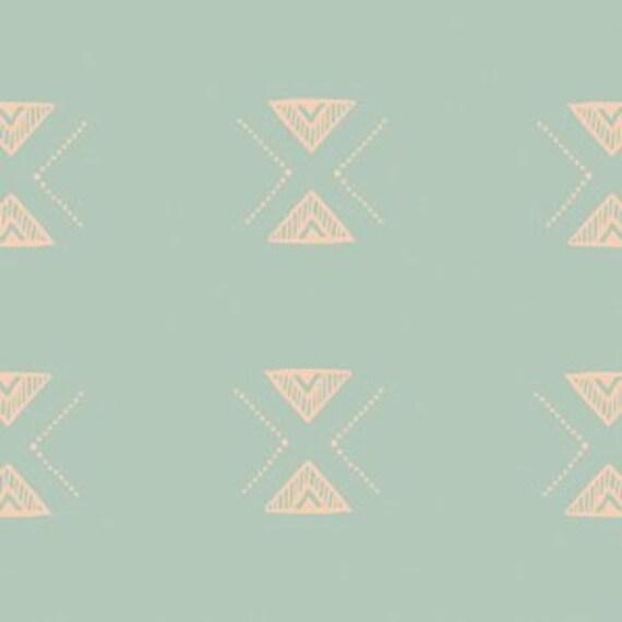 Boppy Cover >> Garden Dreamer Triangular in Mint >> Boppy Newborn Lounger Nursing Pillow >MADE-to-ORDER seafoam arrow boppy, diamond boppy