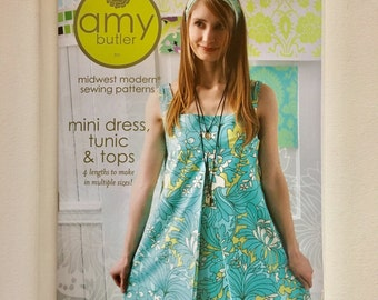 Amy Butler Midwest Modern Sewing Pattern - Mini Dress Tunic and Top - New/Unopened