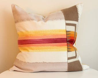 Penny 1R - Hand Painted / Hand Crafted Accent Cushion Cover