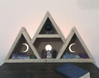 Triple goddess moon shelf