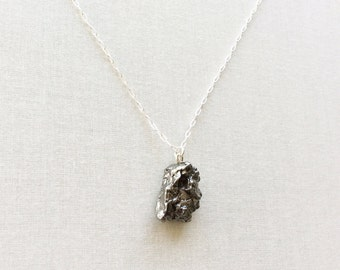 Sterling Silver Argentina Meteorite Necklace - Shooting Star Necklace - Meteorite Jewelry - Outer Space Jewelry - Campo del Cielo Meteorite