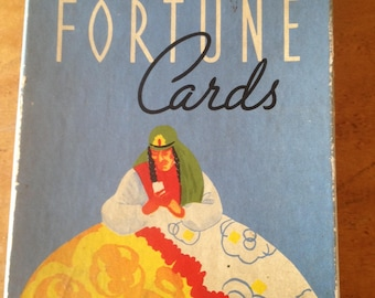 Vintage Old Gypsy Fortune Cards Tarot Deck 1937