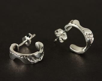 Sterling silver hoop earrings, silver hoop earrings, Woman's hoop earrings, small hoop earrings, Sterling silver hoops, made Canada,Quebec