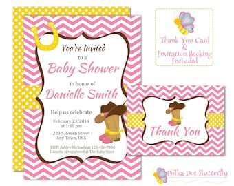 baby shower invitation cowgirl  etsy, Baby shower invitations