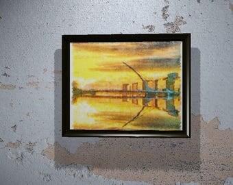 Samuel Beckett Bridge in Dublin, Ireland - Instant download - Printable Wall Art - Painting Download