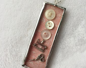 Sewing Soldered Pendant