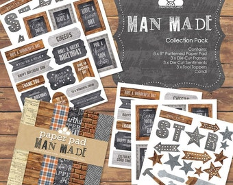 Man Made collection pack - Craftwork Cards - Birthday Sale!