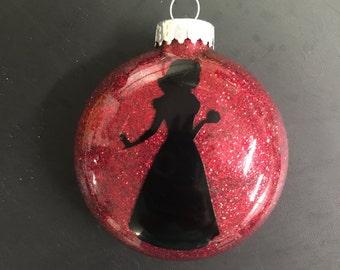 Snow White princess glitter ornament