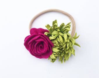 Bold Lime and Fuscia Summer Blooms