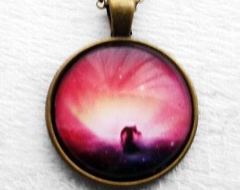 Pink Nebula Pendant & Necklace
