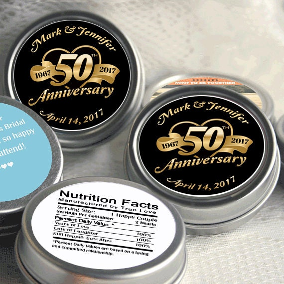 50th Anniversary Mint Tin Favors 50th Anniversary Favors