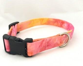 Coral watercolor Dog Collar - Pink dog collar - Summer Dog Collar - Girl Dog Collar - Trendy Dog Collar - Fancy Dog Collar - Boho collars