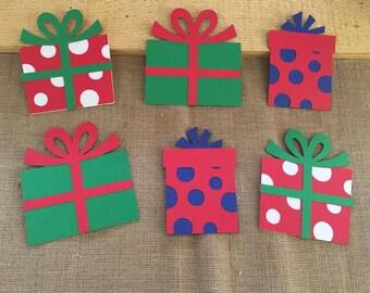Christmas present die cut set of 6