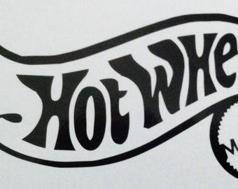 Hot Wheels car decal