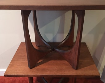 Vintage Broyhill Brasilia End Table, TWO AVAILABLE, Mid Century Modern Side Table, Brasilia Side Table, Sculptural End Table