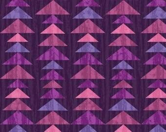 Enchanted by Studio E - Tree Geo Eggplant - Cotton Woven Fabric