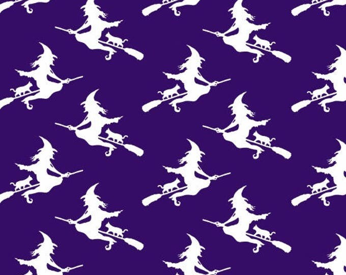 Ready, Set, Glow by Blank Quilting - Witches - GLOW in the Dark Cotton Woven Fabric