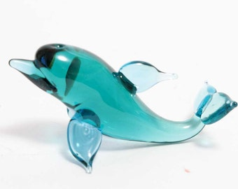 Glass Figurine Dolphin (code 012)