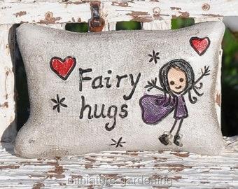 Fairy Pillow, Style Options: Fairy Hugs for Miniature Garden, Fairy Garden
