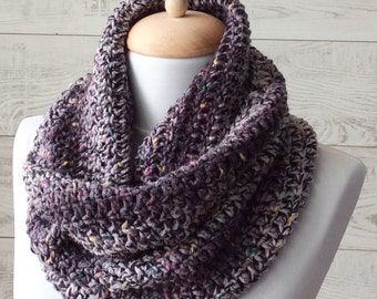 Knit cowl, scarf, knit cowl, infinity scarf, knit scarf, grey scarf / FREE SHIPPING