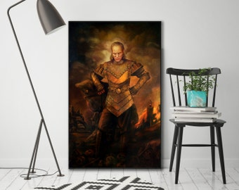 Vigo the Carpathian, Ghostbusters Painting, Ghostbusters II, - Canvas Gallery Wrap or Matte Photo Print