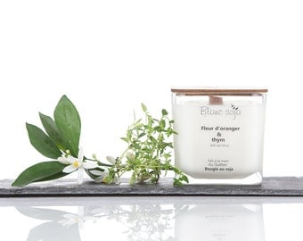 orange blossom and thyme Soy Candle