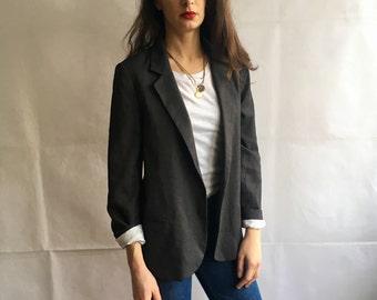 Vintage Gray Long Sleeve Blazer
