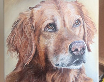 Custom Pet Portrait- Acrylic Painting. Pet painting. Dog painting. Dog portrait. Pet memorial.