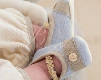Austin Knit Baby Boy Booties