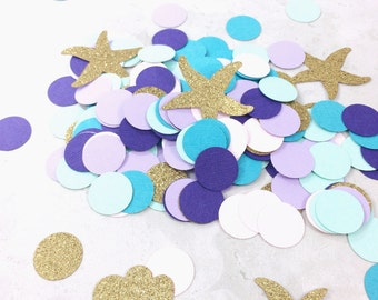 Mermaid Confetti | Princess Party Decorations | Little Mermaid Party | Table Confetti | Nautical Confetti | Under the Sea |  Ariel Party