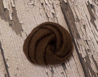 RTS, Wrap, Newborn, Baby wrap, Knitted wrap, Brown, Stretch, Photo Props, Organic, Earthy